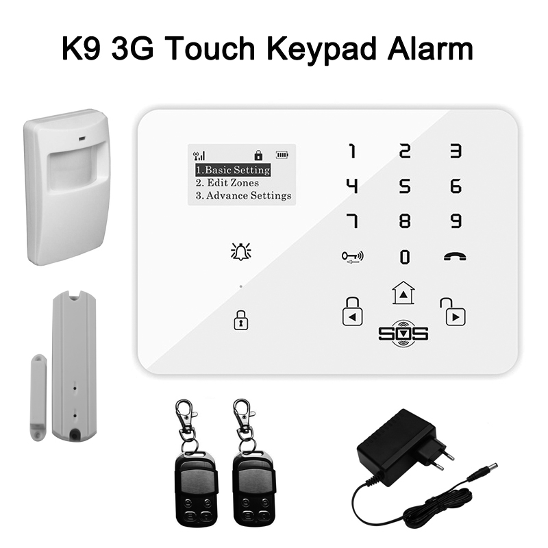 GSM Home Alarm System/GSM Alarm Manual,Android/IOS APP Wireless Panel Burglar Security System PIR Motion Sensor For Elder K9(China (Mainland))