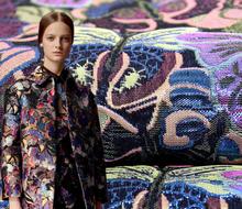 Metallic Jacquard brocade Dress Fabric Cloth Width145cm*100cm Overcoat Jacket Home Decor Upholstery Sewing Material(China (Mainland))