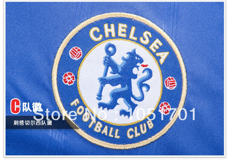 13/14 A+++ quality Chelsea home football jersey high quality soccer jersey free shipping(China (Mainland))