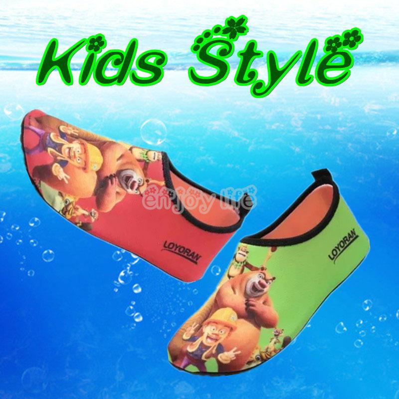 Pelle estate scarpe da corsa per bambini in acqua spiaggia a piedi bicicletta scarpe ragazzi ragazze scarpe da ginnastica a piedi nudi scarpe snorkel sport scarpe di nuotare(China (Mainland))