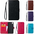 Vintage Butterfly embossed Wallet PU Leather Case For HTC Desire 626 Hand Strap bag Flip Cover