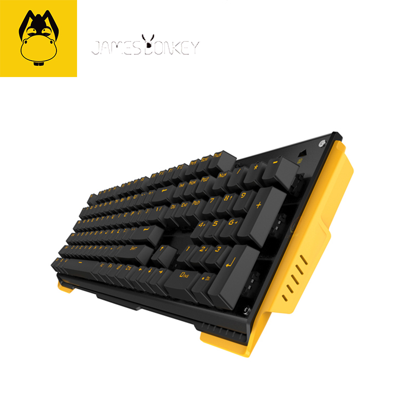 Brand Multi-function JAMES DONKEY 619 metal mechanical keyboards back notebook computer 104-key cool absorption lighting effects(China (Mainland))