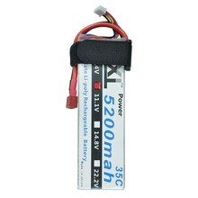 XXL Power Lipo 3S Battery 11.1v 5200mah 35C Accu Battery LiPoli Lipo 3S1P Continuous Discharge 156 Ampere Toys & Hobbies