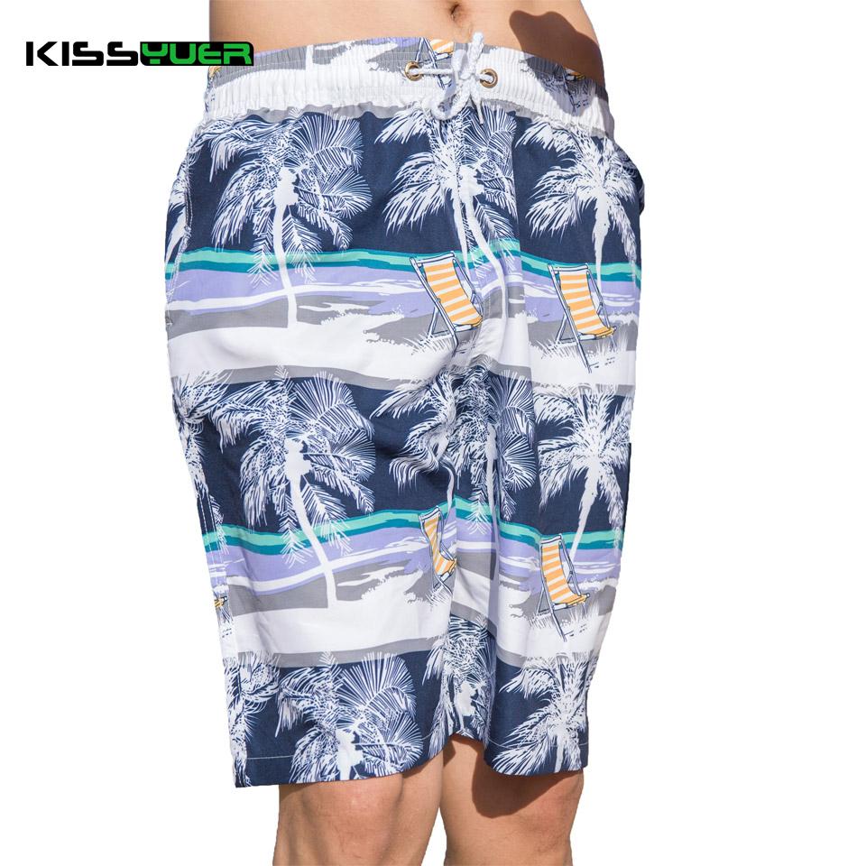 KISSyuer Quick dry Coconut tree Sunshine deck chair man shorts bath Boardshort surf swimwear Couple Men beach shorts KBS1115(China (Mainland))