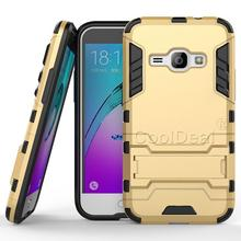 Armor Case Hybrid Kickstand Cover For Samsung Galaxy J1 2016 J120F J120 Combo Hard PC + Soft TPU Silicone Back Phone Case