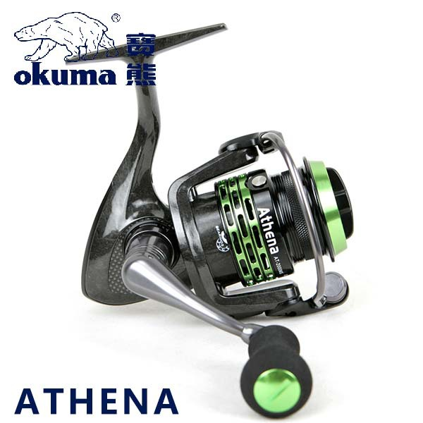 100% Original Okuma Brand Athena AT-2000MS AT-2500MS Light Spool Fishing Spinning Reel for Carp Fishing Super Light Carbon Body(China (Mainland))