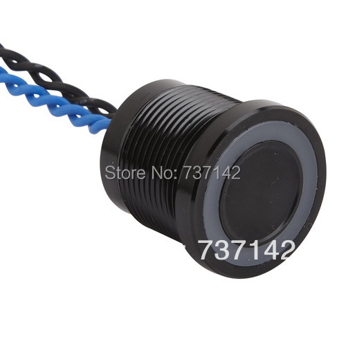 ELEWIND Black color aluminum anodized piezo touch switch (19mm,PS193P10YBK1R24L,Rohs,CE)(China (Mainland))