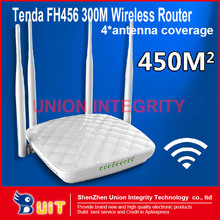 Tenda FH456 300Mbps Wireless WIFI router 4* Antenna Intelligent Household Coverage 450 Meters New Generation English firmware(China (Mainland))