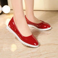 Spring New Comfortable Ladies Flats Shinny Patent Leather Upper High Quality Women Slip On Driving Loafers