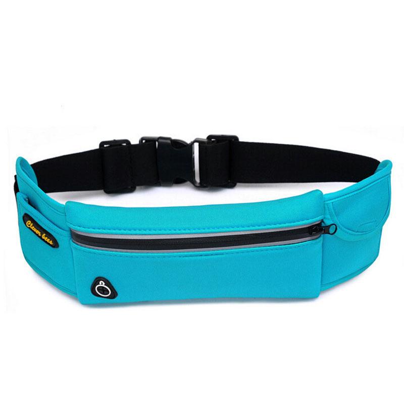 Fashion Utility Waterproof Nylon Waist Bag Casual Zipper Fanny Pack Women Men Belt Bum Waist Pouch Bag For 5.5 Inch Mobile Phone(China (Mainland))
