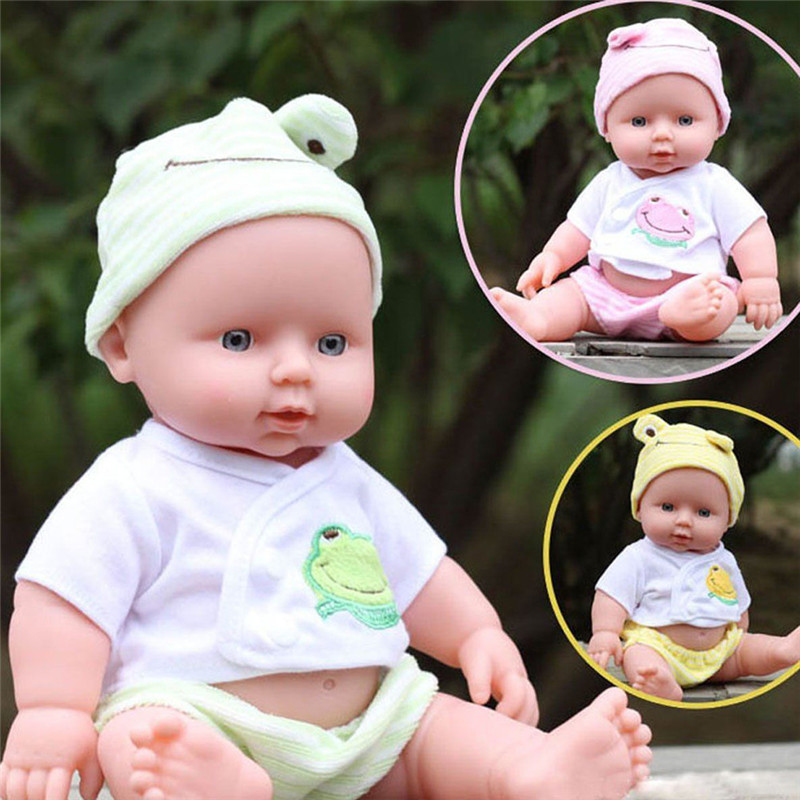 Free Shipping 12inches Reborn Baby Doll Soft Vinyl Silicone Lifelike Newborn Baby for Girl Gift Baby Girls Toys<br><br>Aliexpress