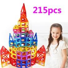 215 шт. магнитный блок строительство игрушки Магнитные Кирпичное Здание Игрушки Дети Магнитного Дизайнеры Строительные Блоки подарки детям