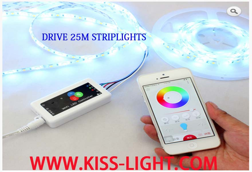 LED WIFI Controller dimmer strip light mobile phone controll wifi remote KS016 - Shenzhen Kiss Lighting Co., Ltd. store