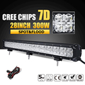 Oslamp 7D CREE Chips 300W 28 inch LED Work Light Bar Combo Beam Offroad Led Bar