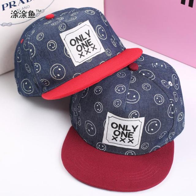 Мода детей летом крышки snapback корейский стиль Xxx шляпа exo только для хип-хоп ребенок бейсболка, Улыбающееся плоским шляпу вдоль для детей