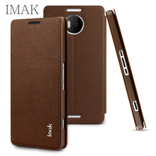 For Microsoft Lumia 950 XL 950XL Case Leather Cover IMAK for Microsoft Lumia 950XL Dual SIM Stand Flip Case Protective Shell(China (Mainland))
