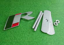 Auto car chrome R SPORT for Jaguar XF XE XKR XJR Front Grill Grille Badge Emblem(China (Mainland))