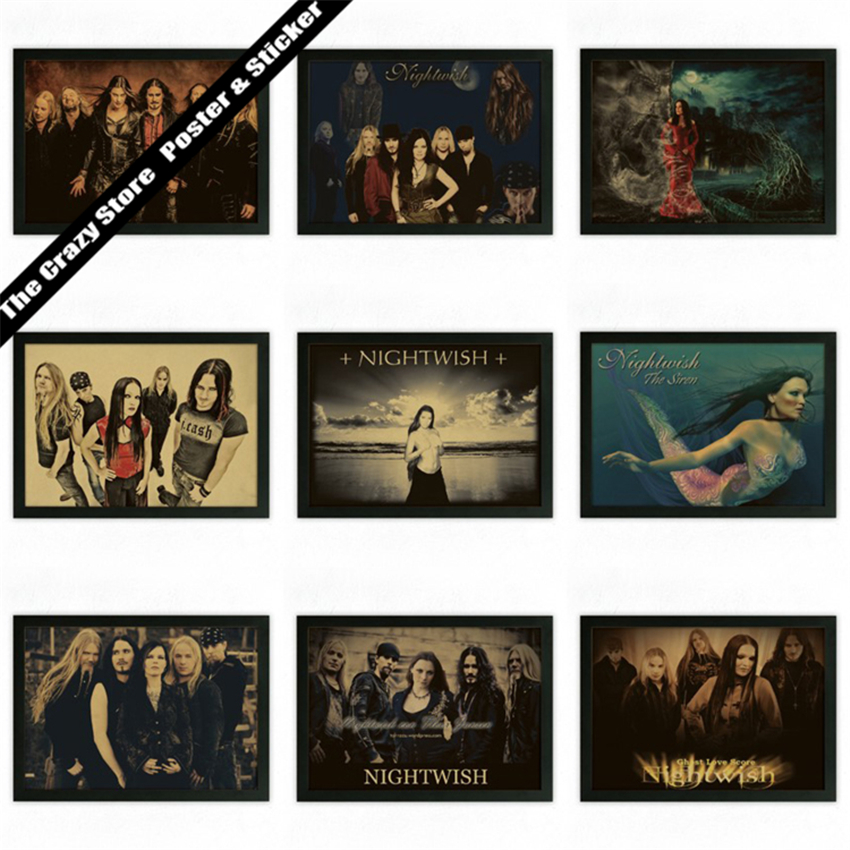 Nightwish music rock vintage poster retro nostalgia kraft paper decorative painting wall sticker(China (Mainland))
