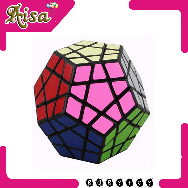 Hot sale ,Megaminx Magic Cube Pentagon 12 Side Gigaminx PVC Sticker Dodecahedron Toy Puzzle Twist IQ EQ Game Mind Teaser Y013(China (Mainland))