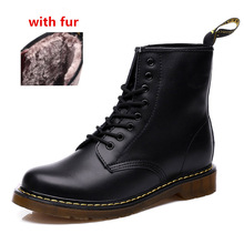 original Logo Leather Men boots women Winter boots Snow Boots High Top brand Martin Boots Men And Women Ankle Boots Casual Boots(China (Mainland))