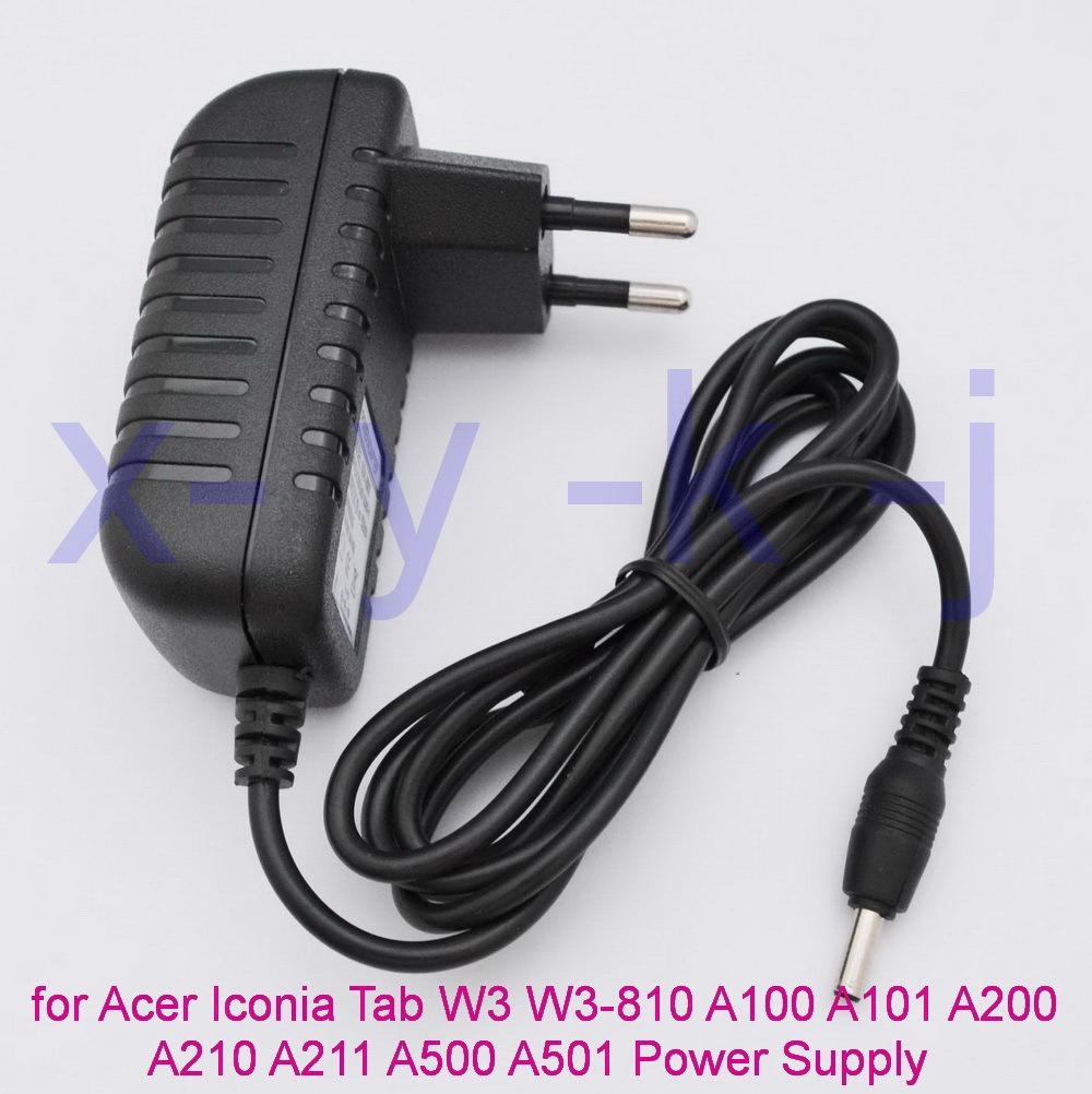 1PCS EU Plug12V 1.5A Tablet Charger for Acer Iconia Tab W3 W3-810 Aspire Switch 10 A100 A101 A200 A210 A211 A500 A501 Power(China (Mainland))