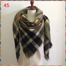 za Winter 2016 Tartan Scarf bufandas Plaid Scarf New Designer Unisex Acrylic Basic Shawls Women's Scarves hot za scarf cuadros(China (Mainland))