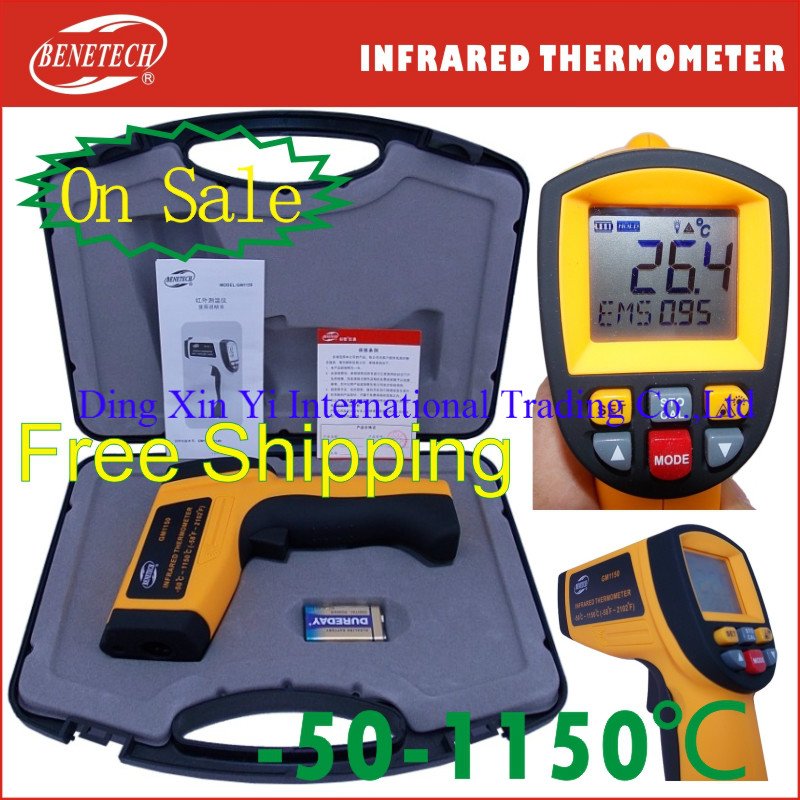 professional infrared thermometer laser infrared thermometer body temperature medical infrared thermometer 1150 degree(China (Mainland))