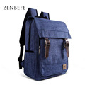 ZENBEFE Unisex Backpacks Vintage Backpack Fashion Linen Backpack Leisure Travel Bag School Bags High Capacity Laptop