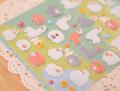 1pcs Sheet Korea Styling Kawaii 3D Cartoon Sheep Alpaca PVC Diary Bubble Stickers Decorative For Notebook