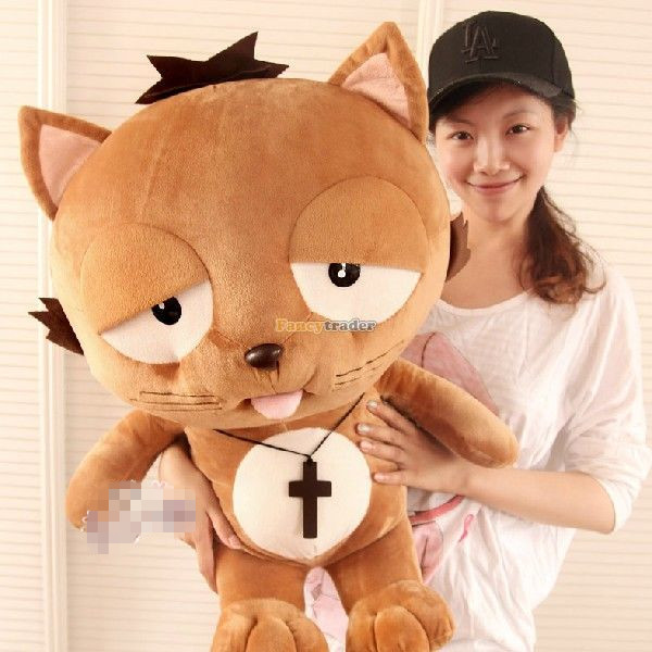 Fancytrader 90cm Korean TV Soaps Giant Anime Plush Stuffed Lazy Dinga Cat Toy, Nice Gift for Girlfriend, Free Shipping FT50250