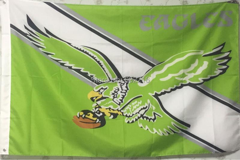 Football Philadelphia Eagles Throwback Flag 3ft x 5ft Banner Flying Custom flag(China (Mainland))