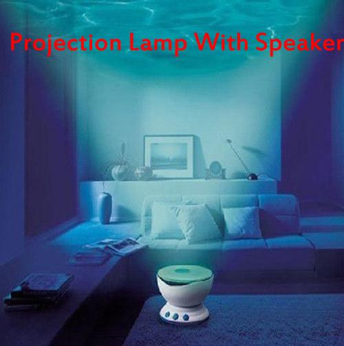 Led Night Light Projector Ocean Daren Waves Projector Projection Lamp LED Light Blue light With Speaker Free shipping(China (Mainland))