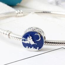 Europeu 1pc presente de natal casa copo boneco de neve diy grânulo caber pandora encantos originais prata 925 pulseira jóias para as mulheres f010(China)