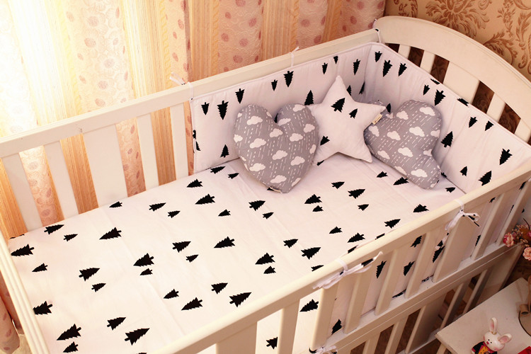 Детские товары   Promotion! 6PCS baby cot bedding set crib cushion for newborn cot bed sets bumper (bumpers+sheet+pillow cover)