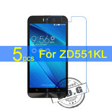 5pcs Ultra Clear LCD Screen Protector Film Cover For Asus ZenFone Selfie ZD551KL Protective Film  +  cloth