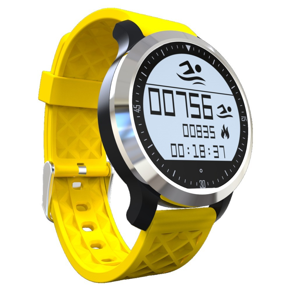 PARAGON Swimming IP68 Waterproof Smartwatch F69 Smart watch Real time Heart rate monitor Wrist watches Pedometer F68 MOTO360