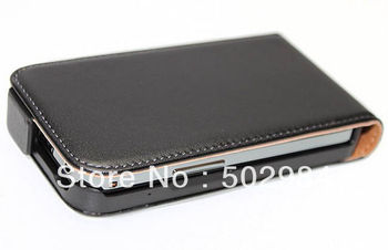 Smooth Genuine Leather Case for Samsung Galaxy Ace S5830 cell phone PU flip skin protector back cover pouch 1pcs Retail Sample