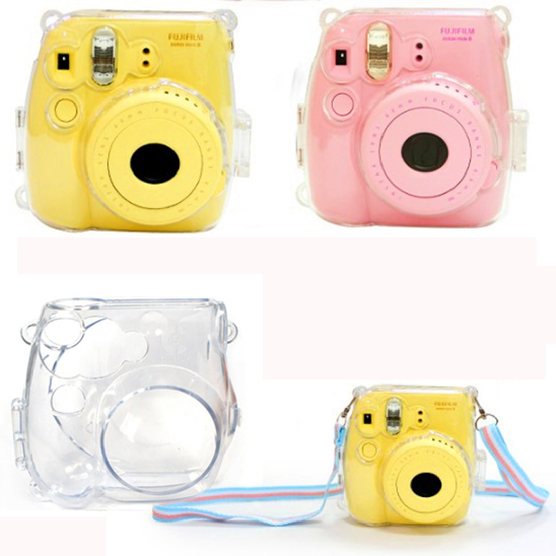 Thin Crystal Clear PC Hard Case Cover For FujiFilm Instax Mini8 Camera Protective Shell Quality Anti-scratch Case for Polaroid(China (Mainland))