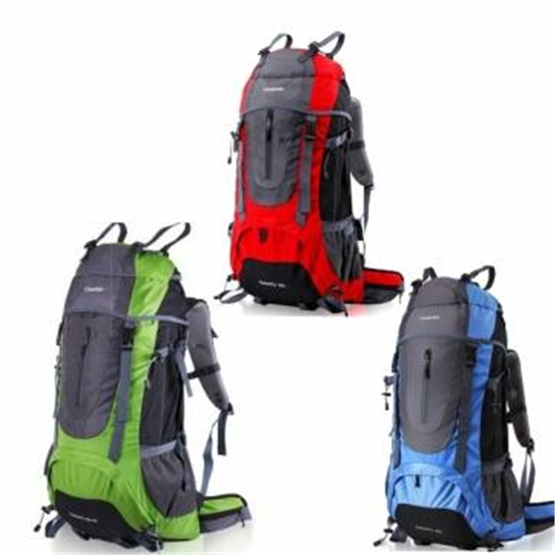 Фотография Camping Hiking 60+5L Backpack Nylon Rucksack Bag For Mountaineering Climbing Travel