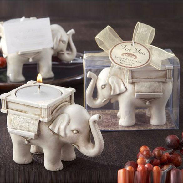 LS4G 2015 Wedding Decoaration Elephant Candle Holder Gum Resin Bridal Wedding Home Decor Candle Gift(China (Mainland))