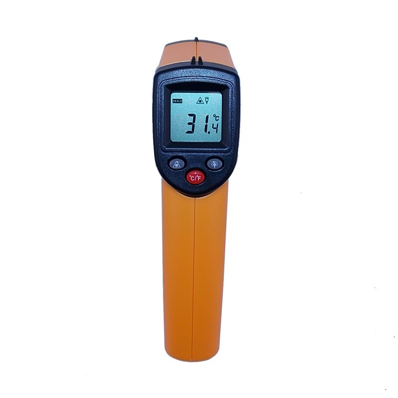 2PCS/Lot Retail box GM320 Non-Contact Laser Gun Infrared Digital IR Thermometer industrial LCD with Back Light -50~330C(China (Mainland))