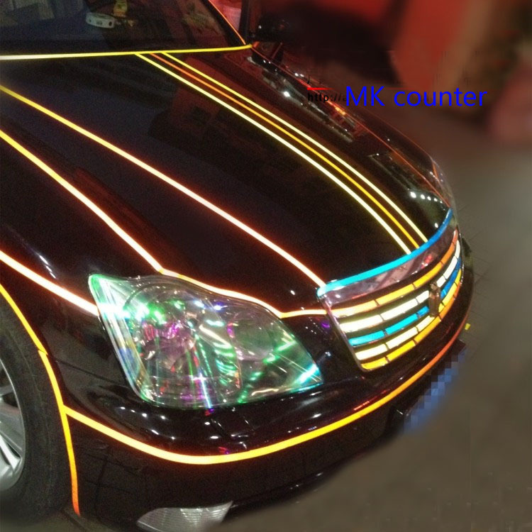 super bright reflective strips change color of the body luminous warning stickers super reflective sheeting moldings 45 meters <br><br>Aliexpress