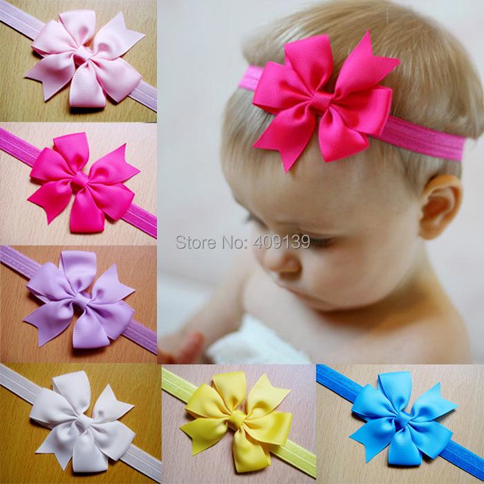 2015 New Baby Bow Headband Hair Bowknot Headbands Infant Hair Accessories Girls Bow Headband Toddler Hairbands(China (Mainland))