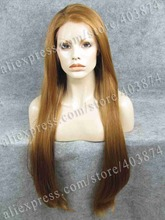 CWN22C27R Extra Long Honey Blonde 30inch Silky Straight Amazing Synthetic Lace Front Wig