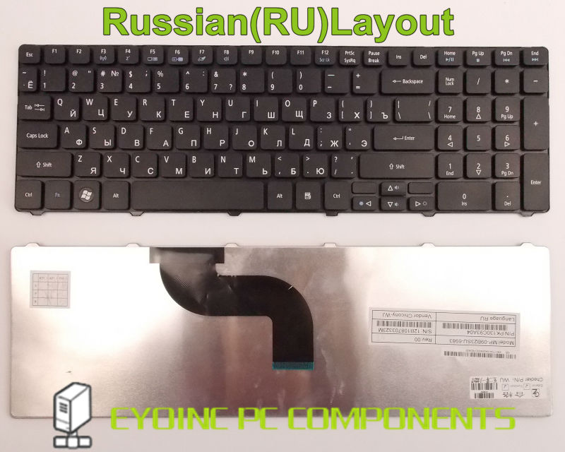 Клавиатура ноутбука для Acer Aspire AS5551-2450 AS5551-2468 AS5551-2805 AS5551-4200 RU Русская Версия куплю маз 5551 5549 в украине
