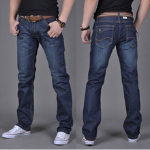 2015 High Quality Famous Brand Men Jeans Cotton Denim Jeans Casual Straight Washed Thin Light Summer Jeans plus Size:28~40(China (Mainland))