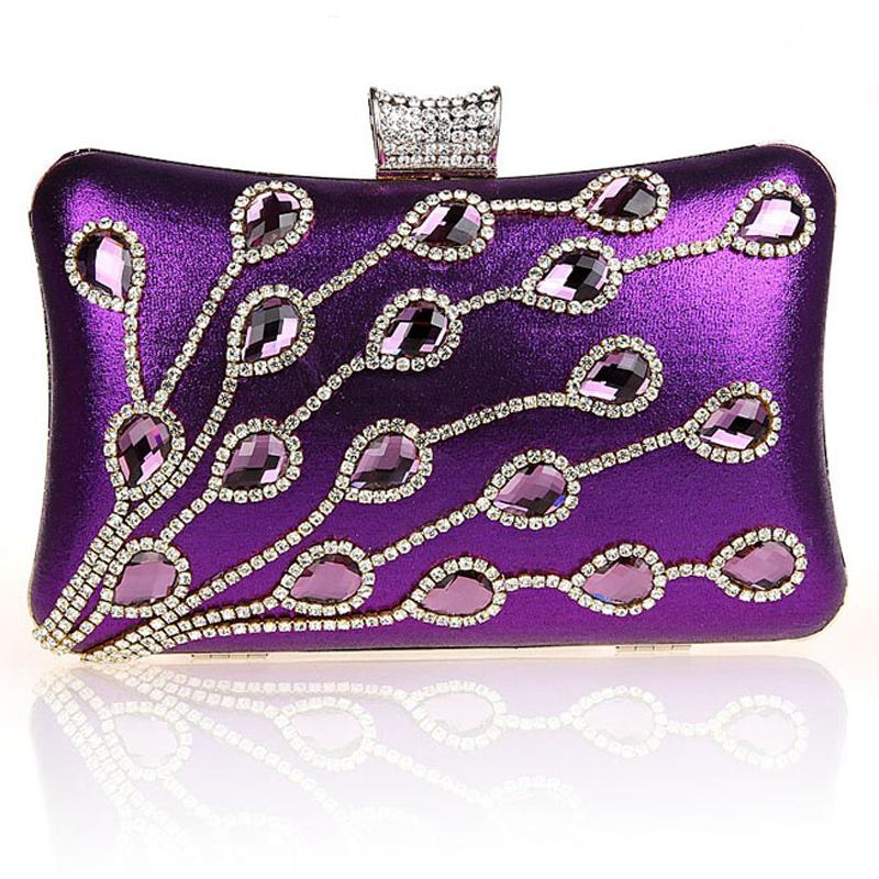 Diamonds acrylic women evening bags leaf crystal ladies evening bag leather vintage clutch shoulder chain handbags small purse <br><br>Aliexpress