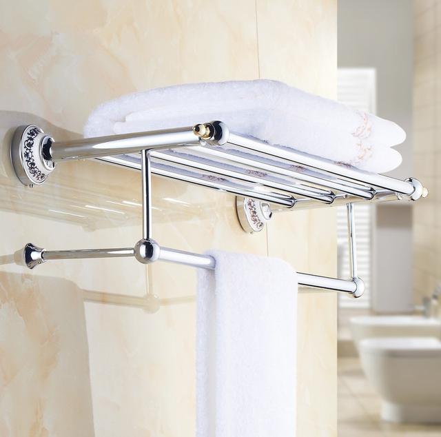 Baño De Lujo Moderno:2016 de lujo Chrome diseño de toallas, cuarto de baño moderno