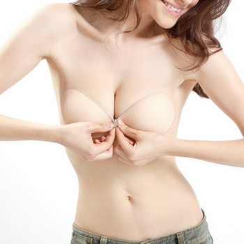 Sexy Adhesive Stick On Push Up Strapless Invisible Cotton Backless Bra A B C D Breast Massage