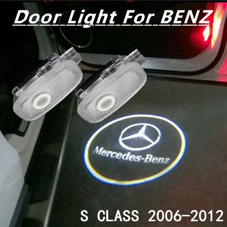 2x Mercedes BENZ 3D CREE LED LASER GHOST SHADOW PROJECOR CAR DOOR WELCOME LIGHT Mercedes benz S class(China (Mainland))
